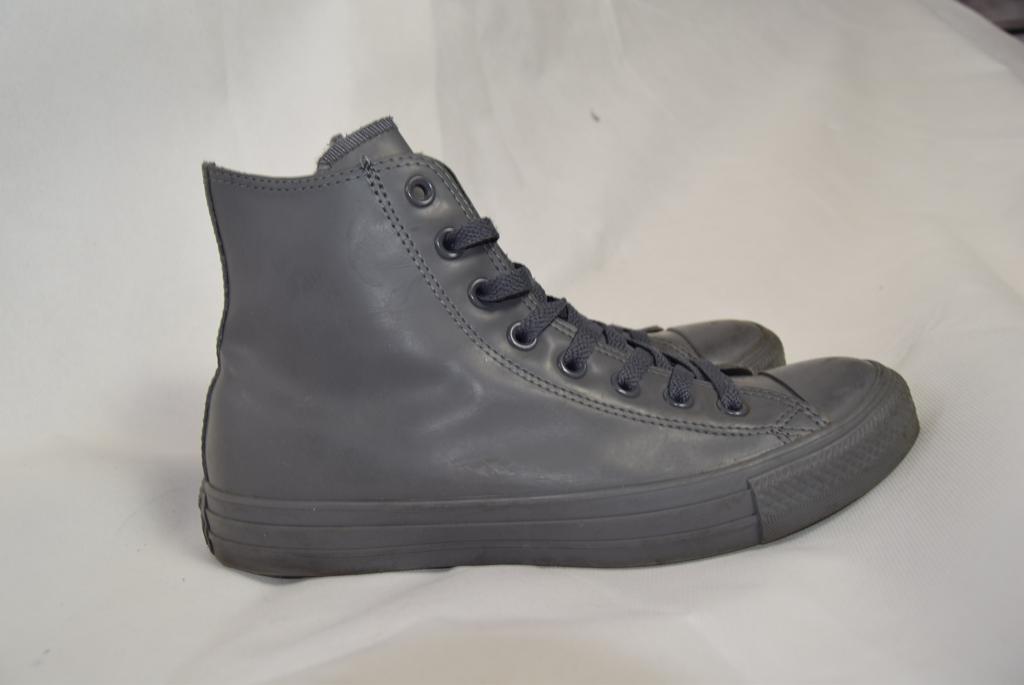 Converse - All Star Sneakers Uomo alte pelle grigio n.40 in gomma sportive